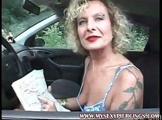 Amateur Car Mature Tattoo