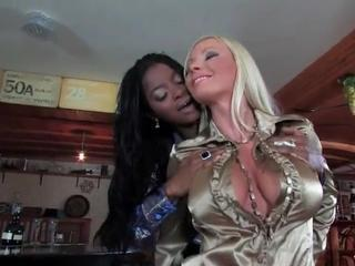 Girls fondlings big tits and tight asses in lesbian porn