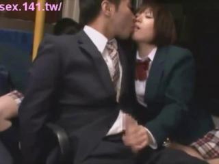 Asian Handjob Japanese Public Student Uniform