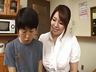 Japanese Busty Tutor wit geek Student