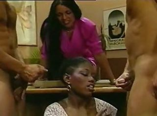 Cumshot Ebony Groupsex Interracial MILF Vintage