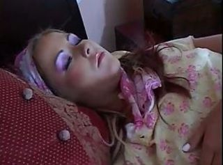 Patricia is woken by two men for double penetration in her bedroom.