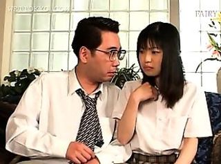 Asian Cute Old and Young Teacher Teen