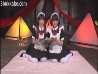 Two Jizz Eating Japanese Teen Maids by jpsextube