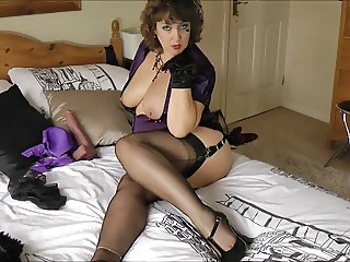 Dildo Mature Stockings
