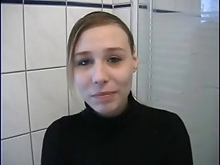 Bathroom European German Student Teen