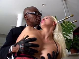 Big Tits Blonde Interracial  Pornstar