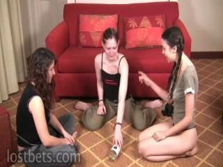 Girls playing mischievous distressing sex games