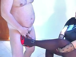 Indian BBW in pantyhose BJ Nylon And heels Spunk