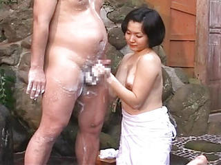 Asian Babe Handjob Japanese Outdoor