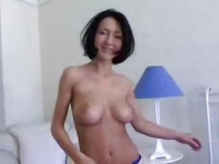 Beauty In Sexy Jeans Strips To Get Finge...
