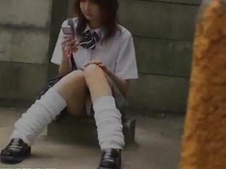 Asian Japanese Student Teen Uniform Upskirt Voyeur