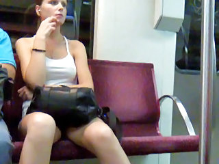 Cool chick in the subway