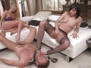Gorgeous Emaciate Foot Sluts Fucked In The...