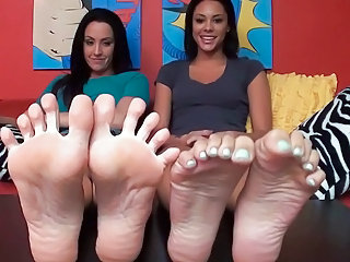 JOI together with Foot from to sexy Girls