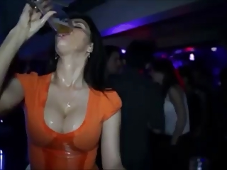Busty Hit the bottle Beer - Chubby Boobs and Beer connect!..