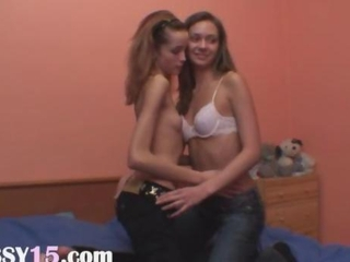 Dancing and pussy licking for a webcam