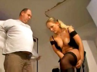 GERMAN MILF BLONDE FUCKED BY FAT OLDER