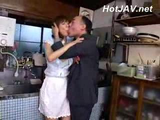 Asian Daddy Japanese Kitchen  Older Wife