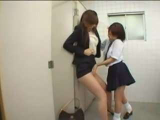 Asian Clothed Lesbian Student Teen Uniform
