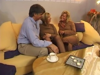 European German Mature Threesome