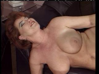 Redhair MILF get fucked on the sofa