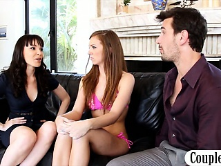 Old and Young Teen Threesome Wife