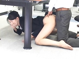 Asian Babe Clothed Doggystyle Japanese Office Secretary
