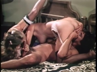 Blowjob Licking Stockings Threesome Vintage