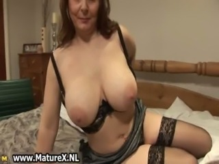 Big Tits Chubby Lingerie Mature Natural Stockings Wife