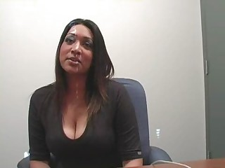Big Tits Ebony  Office Secretary