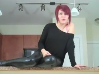 Redhead in leather. JOI and CEI