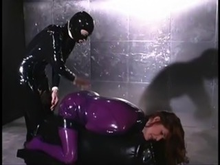 Dominatrix fucks her slave