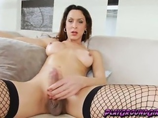 TS Ana Hickiman Fucks Yourselves with a Metal Dildo