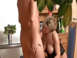 Blonde German dam is caught on spy cam having sex in the office