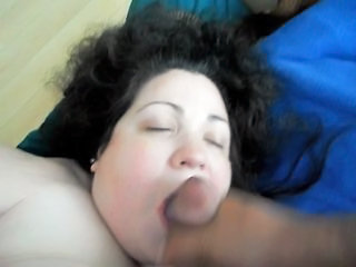 BBW Facial and she cums