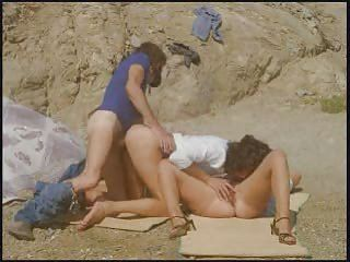 Beach Outdoor Threesome Vintage