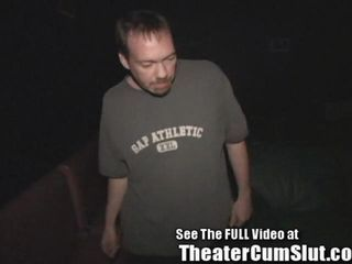 Sammi is a cuckold slut wife Her husband Jim loves to serve her up to all of the horny perverts in the seedy porn theater Jim called Dirty D on his cell phone to come by the theater to document the debauchery Jim wants the world to watch as his