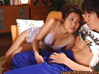 Frying japanese mature babes sucking