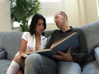 Daddy Interracial Latina Old and Young Teacher Teen