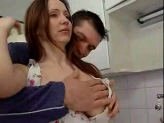 Beutyful mature fuck in the kitchen