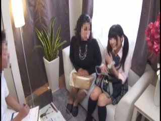 Asian Daughter Japanese Mom Old and Young Pigtail Student Teen Uniform