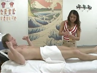 Asian Babe Interracial Massage