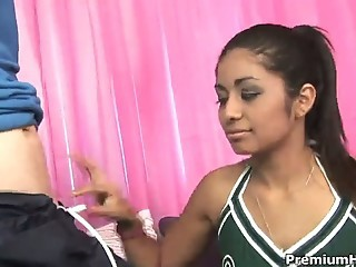 Cheerleader Cute Interracial Teen Uniform