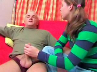 European German Handjob Old and Young Pigtail