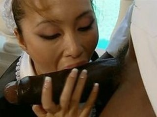 Asian  Blowjob Interracial Japanese Maid