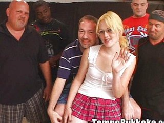 Blonde Gangbang Old and Young Teen