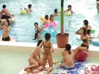 Asian Bikini Japanese Pool