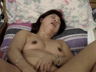 Asian Chinese Masturbating Mature Wife
