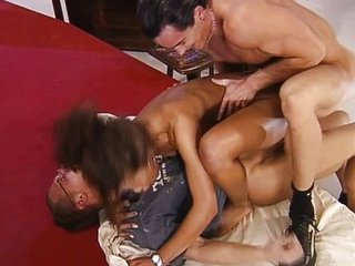 Miss Germany fucked by two guys